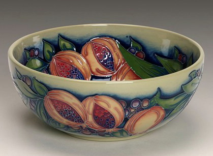 Moorcroft Pottery Green Pomegranate